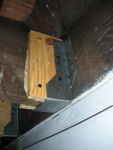Completed Joist Hanger now supporting floor