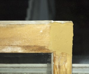 Wood Filler on Window Sash